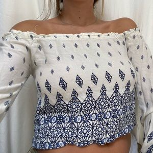 Off the shoulders blouse